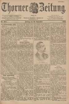 Thorner Zeitung : Begründet 1760. 1901, Nr. 274 (22 November) - Erstes Blatt