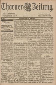 Thorner Zeitung : Begründet 1760. 1901, Nr. 275 (23 November) - Erstes Blatt