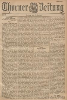 Thorner Zeitung. 1901, Nr. 15 (18 Januar) - Zweites Blatt