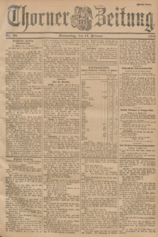 Thorner Zeitung. 1901, Nr. 38 (14 Februar) - Zweites Blatt