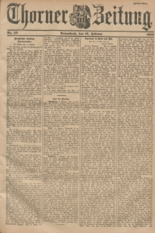 Thorner Zeitung. 1901, Nr. 40 (16 Februar) - Zweites Blatt