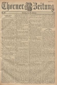 Thorner Zeitung. 1901, Nr. 47 (24 Februar) - Zweites Blatt