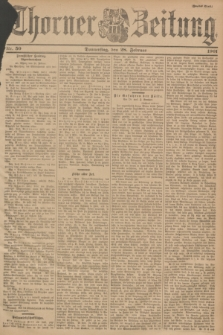 Thorner Zeitung. 1901, Nr. 50 (28 Februar) - Zweites Blatt