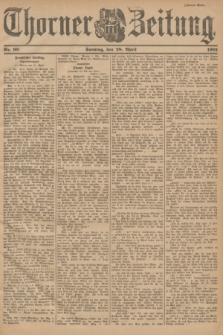 Thorner Zeitung. 1901, Nr. 99 (28 April) - Zweites Blatt