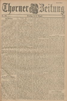 Thorner Zeitung. 1901, Nr. 182 (6 August) - Zweites Blatt