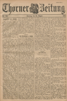 Thorner Zeitung. 1901, Nr. 199 (25 August) - Zweites Blatt