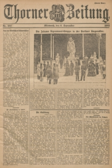 Thorner Zeitung. 1901, Nr. 207 (4 September) - Zweites Blatt