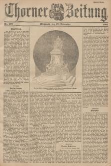 Thorner Zeitung. 1901, Nr. 278 (27 November) - Zweites Blatt