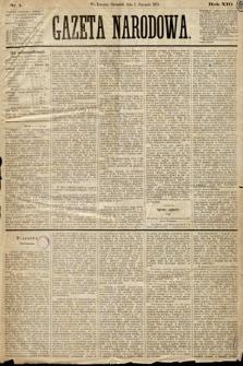 Gazeta Narodowa. 1874, nr1