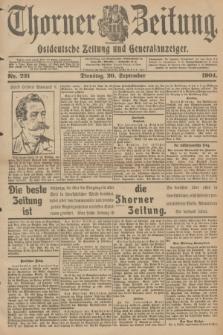 Thorner Zeitung : Ostdeutsche Zeitung und Generalanzeiger. 1904, Nr. 221 (20 September) + dod.