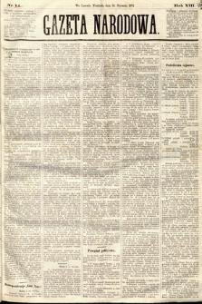 Gazeta Narodowa. 1874, nr14