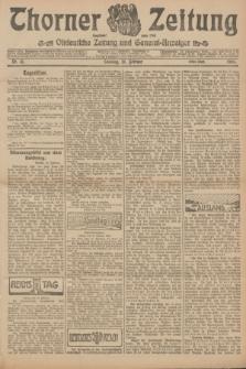 Thorner Zeitung : Ostdeutsche Zeitung und General-Anzeiger. 1906, Nr. 41 (18 Februar) - Erstes Blatt + dod.