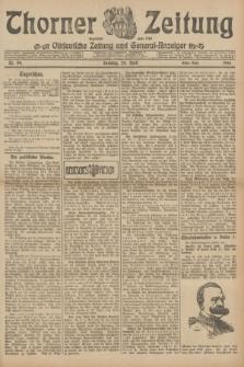 Thorner Zeitung : Ostdeutsche Zeitung und General-Anzeiger. 1906, Nr. 99 (29 April) - Erstes Blatt + dod.