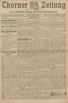 Thorner Zeitung : Ostdeutsche Zeitung und General-Anzeiger. 1906, Nr. 175 (29 Juli) - Erstes Blatt + dod.