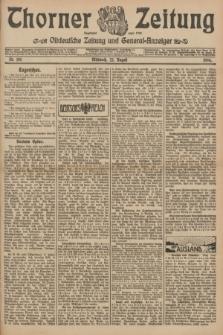 Thorner Zeitung : Ostdeutsche Zeitung und General-Anzeiger. 1906, Nr. 195 (22 August) + dod.