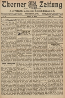 Thorner Zeitung : Ostdeutsche Zeitung und General-Anzeiger. 1906, Nr. 199 (26 August) - Zweites Blatt