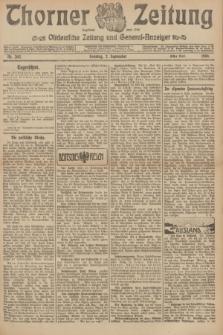 Thorner Zeitung : Ostdeutsche Zeitung und General-Anzeiger. 1906, Nr. 205 (2 September) - Erstes Blatt + dod.