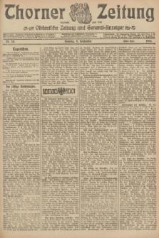 Thorner Zeitung : Ostdeutsche Zeitung und General-Anzeiger. 1906, Nr. 211 (9 September) - Erstes Blatt + dod.