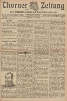 Thorner Zeitung : Ostdeutsche Zeitung und General-Anzeiger. 1906, Nr. 214 (13 September) + dod.