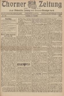 Thorner Zeitung : Ostdeutsche Zeitung und General-Anzeiger. 1906, Nr. 264 (10 November) + dod.