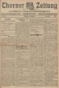 Thorner Zeitung : Ostdeutsche Zeitung und General-Anzeiger. 1906, Nr. 271 (18 November) - Erstes Blatt + dod.