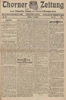 Thorner Zeitung : Ostdeutsche Zeitung und General-Anzeiger. 1906, Nr. 283 (4 Dezember) - Erstes Blatt + dod.