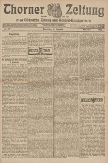 Thorner Zeitung : Ostdeutsche Zeitung und General-Anzeiger. 1906, Nr. 291 (13 Dezember) - Erstes Blatt + dod.