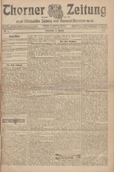 Thorner Zeitung : Ostdeutsche Zeitung und General-Anzeiger. 1907, Nr. 4 (5 Jannar) + dodatek