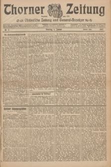 Thorner Zeitung : Ostdeutsche Zeitung und General-Anzeiger. 1907, Nr. 5 (6 Jannar) - Zweites Blatt