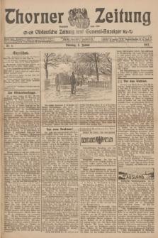 Thorner Zeitung : Ostdeutsche Zeitung und General-Anzeiger. 1907, Nr. 6 (8 Jannar) + dodatek