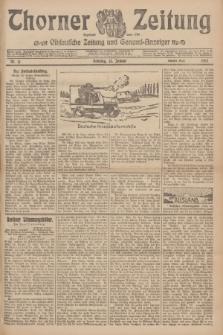 Thorner Zeitung : Ostdeutsche Zeitung und General-Anzeiger. 1907, Nr. 11 (13 Jannar) - Zweites Blatt