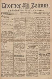 Thorner Zeitung : Ostdeutsche Zeitung und General-Anzeiger. 1907, Nr. 12 (15 Jannar) - Erstes Blatt + dodatek