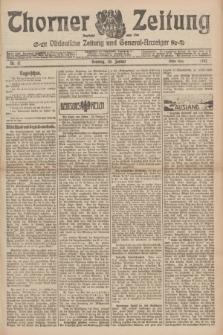 Thorner Zeitung : Ostdeutsche Zeitung und General-Anzeiger. 1907, Nr. 17 (20 Jannar) - Erstes Blatt + dodatek