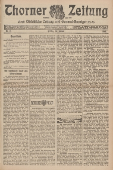 Thorner Zeitung : Ostdeutsche Zeitung und General-Anzeiger. 1907, Nr. 21 (25 Jannar) + dodatek