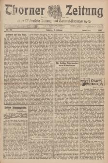 Thorner Zeitung : Ostdeutsche Zeitung und General-Anzeiger. 1907, Nr. 29 (3 Februar) - Zweites Blatt