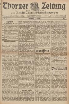 Thorner Zeitung : Ostdeutsche Zeitung und General-Anzeiger. 1907, Nr. 32 (7 Februar) + dodatek