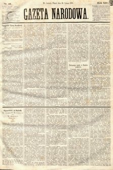 Gazeta Narodowa. 1874, nr41