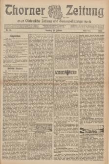 Thorner Zeitung : Ostdeutsche Zeitung und General-Anzeiger. 1907, Nr. 35 (10 Februar) - Erstes Blatt + dodatek