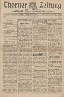 Thorner Zeitung : Ostdeutsche Zeitung und General-Anzeiger. 1907, Nr. 40 (16 Februar) + dod.