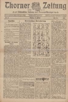 Thorner Zeitung : Ostdeutsche Zeitung und General-Anzeiger. 1907, Nr. 42 (19 Februar) - Erstes Blatt + dod.