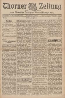 Thorner Zeitung : Ostdeutsche Zeitung und General-Anzeiger. 1907, Nr. 43 (20 Februar) + dod.