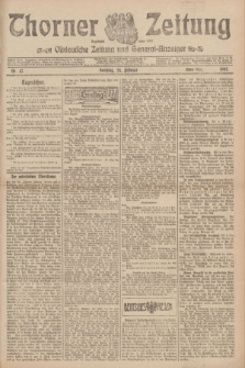 Thorner Zeitung : Ostdeutsche Zeitung und General-Anzeiger. 1907, Nr. 47 (24 Februar) - Erstes Blatt + dodatek