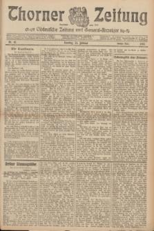 Thorner Zeitung : Ostdeutsche Zeitung und General-Anzeiger. 1907, Nr. 47 (24 Februar) - Zweites Blatt