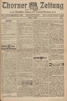 Thorner Zeitung : Ostdeutsche Zeitung und General-Anzeiger. 1907, Nr. 85 (12 April) + dod.