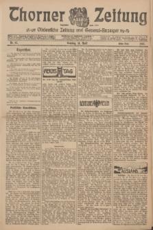 Thorner Zeitung : Ostdeutsche Zeitung und General-Anzeiger. 1907, Nr. 87 (14 April) - Erstes Blatt + dod.