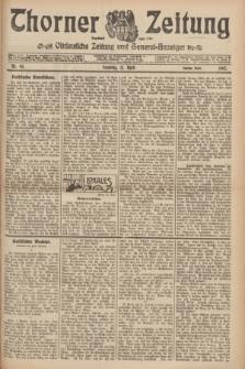 Thorner Zeitung : Ostdeutsche Zeitung und General-Anzeiger. 1907, Nr. 93 (21 April) - Zweites Blatt