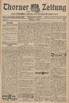 Thorner Zeitung : Ostdeutsche Zeitung und General-Anzeiger. 1907, Nr. 96 (25 April) + dod.