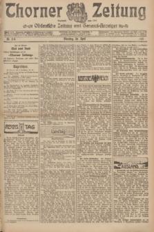Thorner Zeitung : Ostdeutsche Zeitung und General-Anzeiger. 1907, Nr. 100 (30 April) + dod.