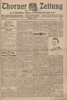 Thorner Zeitung : Ostdeutsche Zeitung und General-Anzeiger. 1907, Nr. 101 (1 Mai) + dod.
