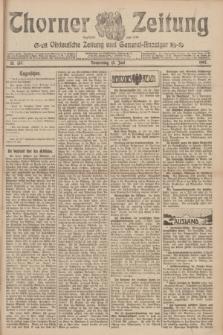 Thorner Zeitung : Ostdeutsche Zeitung und General-Anzeiger. 1907, Nr. 136 (13 Juni) + dod.